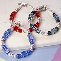 Celebrate Your Birthday Every Day With This Easy To Make Swarovski Bead Bracelet In Birthstone Colors