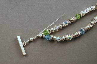 Mommy Bracelet - Reducing 2 strands to 1 to fit the clasp