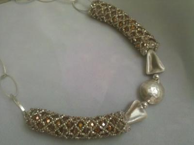 Sterling silver netting - how cool!
